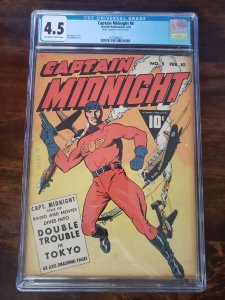 Captain Midnight 5 CGC 4.5
