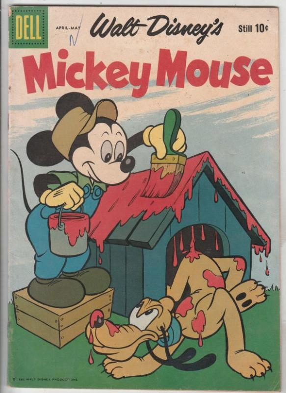Mickey Mouse, Walt Disney's #65 (Apr-59) VG/FN Mid-Grade Mickey Mouse, Goofy