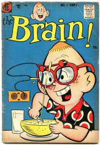 The Brain #1 1956- Dan DeCarlo art- Silver Age humor VG