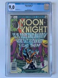 MOON KNIGHT #7 (1981 Series) - CGC 9.0