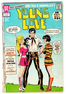 YOUNG LOVE #89 Love Triangle cover - comic book-DC ROMANCE-