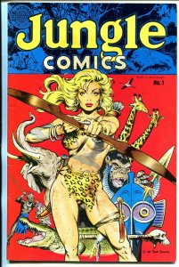 Jungle #1 1988-Blackthorn-Sheena cover-Dave Stevens-1st issue-FN