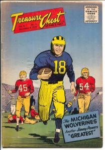Treasure Chest Vol. 12 #5 1956-NCAA football-Jimmy Powers-1947 Rose Bowl-VG