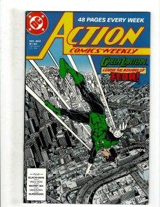12 Action Comics Weekly DC Comics 602 603 604 605 607 608 609 610 611 612 + HG3