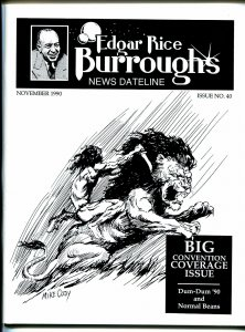 Edgar Rice Burroughs News Dateline #40 1990-Tarzan-ERB portfilio by Mike Cody-VF