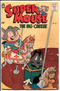Super Mouse #38 1957-Standard-sci-fi story-puzzles-bondage cover-G