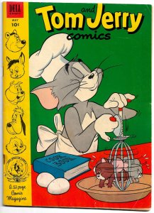 TOM AND JERRY COMICS #106 (May 1953) 6.0 FN • Great Harvey Eisenberg Artwork!