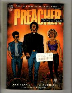 Preacher Vol # 1 Gone To Texas DC Vertigo TPB Graphic Novel Comic Book J324
