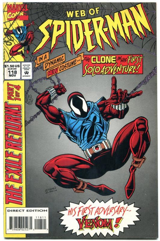 WEB OF SPIDER-MAN #118-HIGH GRADE MARVEL-CLONE ISSUE