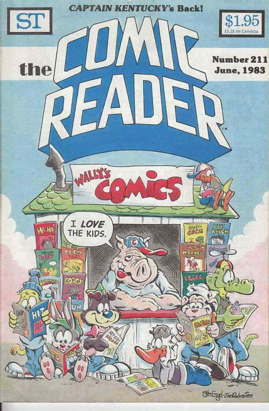 Comic Reader, The #211 VF/NM; Street Enterprises | save on shipping - details in
