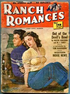 Ranch Romances Pulp April 1 1951- Kirk Douglas- Forrest Tucker G