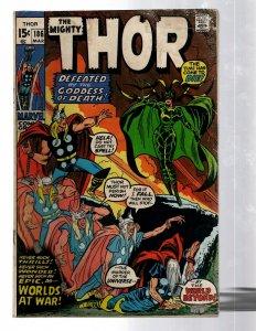 Mighty Thor # 186 VG Marvel Comic Book Loki Odin Asgard Sif Avengers Hulk RB8