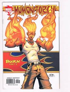 Human Torch # 2 NM Marvel Comic Book Burn Fantastic Four Invisible Woman S80