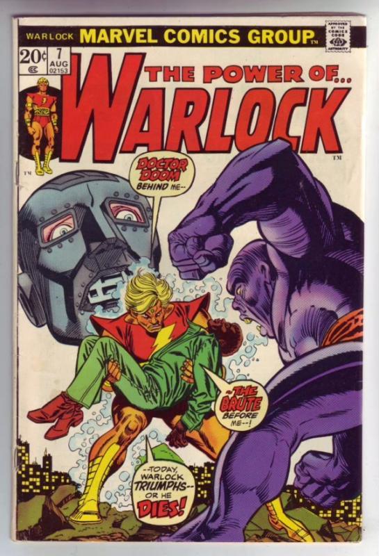 Warlock, the Power of  #7 (Aug-73) FN/VF Mid-High-Grade Adam Warlock