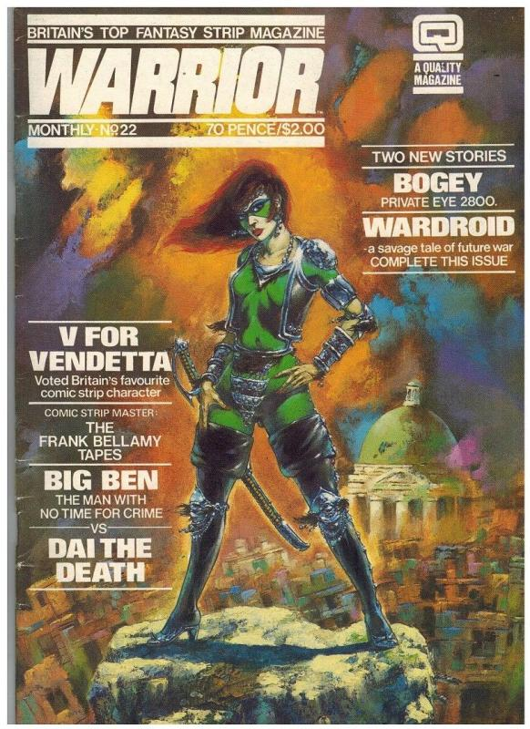 WARRIOR (1982 QUALITY) 22 VG-F Sept. 1984 ALAN MOORE+++
