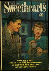 Sweethearts #75 1949- Ice Cream cover- Fawcett Golden Age Romance VG