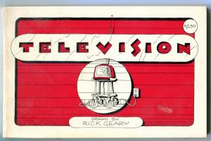 TELEVISION, Rick Geary, 1978, Pacifc Comics, 1st, more HTF items in store