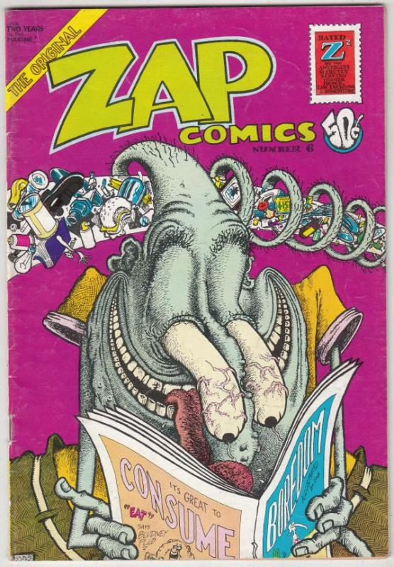 Zap #6 (Jan-73) FN/VF Mid-High-Grade Mr. Natural, Flaky Foont, Star-Eyed Stel...