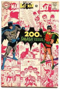 BATMAN #200-1968-DC-ANNIVERSARY ISSUE - Silver Age vf-
