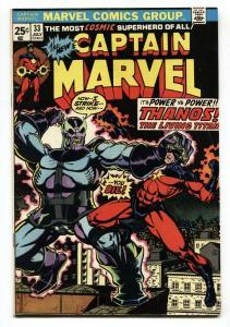 CAPTAIN MARVEL #33-Thanos-Jim Starlin-VF- comic book