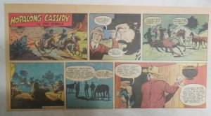 Hopalong Cassidy Sunday Page by Dan Spiegle from 8/7/1955 Size: 7.5 x 15 inches