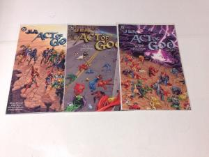 JLA Act Of God 1-3 Complete Near Mint Lot Set Run