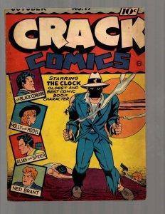 Crack Comics # 17 FN Quality Comic Book Golden Age Clock Black Condor Molly NE5