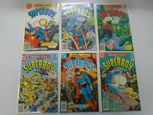 Adventure Comics run of 6 from #453-458 presents Superboy avg 8.0 VF (1977-78)
