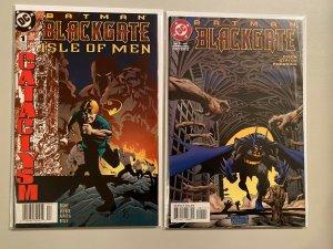 Batman Blackgate & Isle of Men #1s 8.0 VF (1997+98)