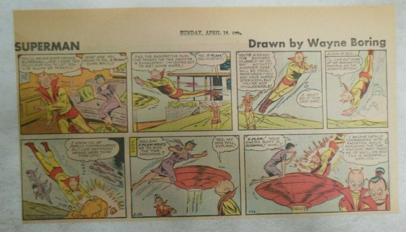 Superman Sunday Page #1122 by Wayne Boring from 4/16/1961 Size ~7.5 x 15 inches