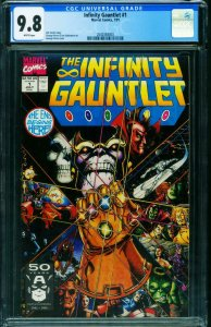 INFINITY GAUNTLET #1 - THANOS CGC 9.8 1991 First issue 2040384003