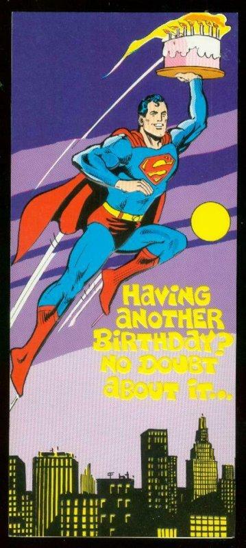 NEAL ADAMS SUPERMAN BIRTHDAY CARD #17 1978 NM