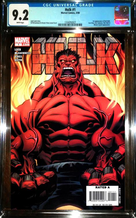 The Hulk #1 (2008) CGC Graded - First Red Hulk