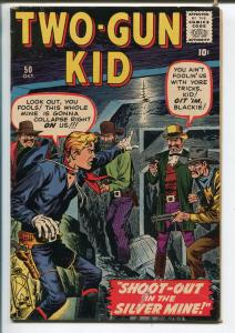 TWO-GUN KID #50-1959-ATLAS-JOE MANEELY-JOHN SEVERIN-YOUNGER BROTHERS-vf