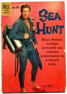 Sea Hunt #7 1960 Frogman-- Lloyd Bridges photo cover- G/VG