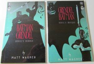 GRENDEL BATMAN  #1 &  2  NM- DC Comics  Comico  MATT WAGNER Dance Riddle Masque