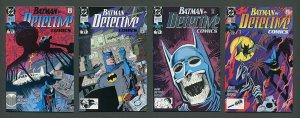 Detective Comics #618 #619 #620 #621 (SET) VFN - NM  1990 (B)