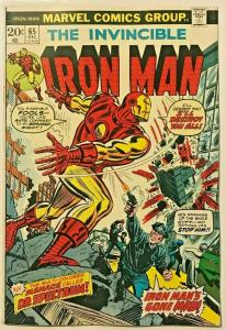 INVINCIBLE IRON MAN#65 FN/VF 1974 MARVEL BRONZE AGE COMICS