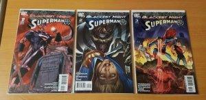 Blackest Night Superman 1-3 Variant Complete Set Run! ~ NEAR MINT NM ~ 2009 DC