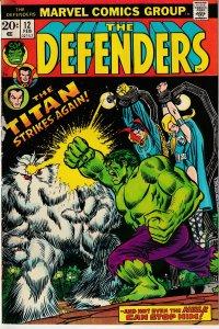 Defenders(Vol. 1) # 12  Hulk, Dr. Strange, Sub Mariner, The Return of Xemnu !