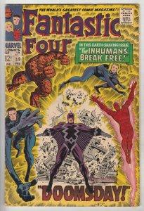 Fantastic Four #59 (Feb-67) FN/VF Mid-High-Grade Fantastic Four, Mr. Fantasti...