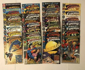 Adventures Of Superman #501 - 529 And Annuals 1-6 &8 Lot Of 37