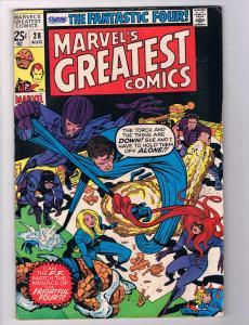 Marvels Greatest Comics #28 VF/NM Marvel Comics Comic Book FF 1970 DE28