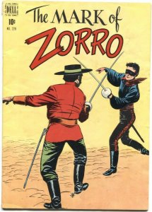 FOUR COLOR COMICS #228-1949-MARK OF ZORRO-FIRST APPEARANCE-DELL