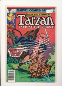 Marvel #4 TARZAN Lord of the Jungle FINE (SIC032)
