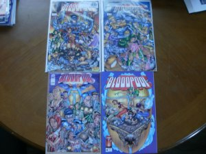 4 Image Comics BLOODPOOL Comic #1 #2 #3 #4 (1995) Lee Marlo Mendoza