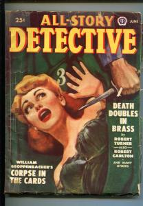 All-Story Detective 6/1949-spicy babe-MacDonald-Kornbluth-hardboiled pulp-VG