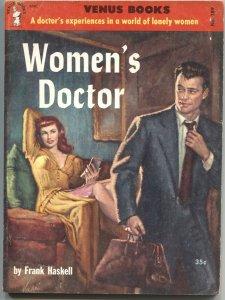 WOMAN'S DOCTOR-VENUS BOOKS #189-1955-SPICY PULP-RUDY NAPPI CVR ART