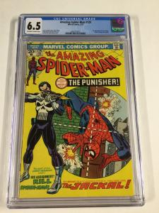 Amazing Spider-man 129 Cgc 6.5 Ow/w Pages 1st Punisher Marvel