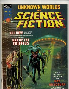 4 Unknown Worlds Of Science Fiction Curtis Comic Book Magazines # 1 3 4 (2) RS3